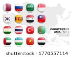 asian countries flags vector 3d ... | Shutterstock .eps vector #1770557114