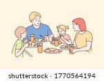 family  meal  recreation ... | Shutterstock .eps vector #1770564194