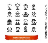 geek icon set. various... | Shutterstock .eps vector #177057071