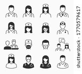 doctor and nurse icons set.... | Shutterstock .eps vector #1770579617