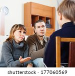 parents scolding teenage child... | Shutterstock . vector #177060569
