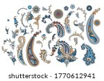 set of traditional indian... | Shutterstock .eps vector #1770612941