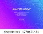 digital technology background.... | Shutterstock .eps vector #1770621461