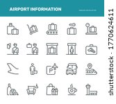 airport information icons ... | Shutterstock .eps vector #1770624611