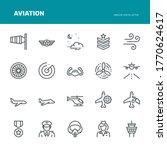 Aviation Icons   Monoline...