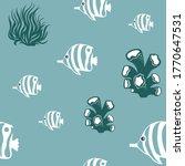 Ocean Background  Under Water...
