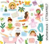 self care and wellbeing clipart ... | Shutterstock .eps vector #1770649817