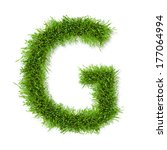 alphabet grass