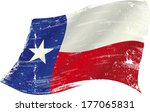 Flag Of  Texas In The Wind Wit...