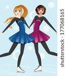 female figure skaters  blonde...   Shutterstock . vector #177068165