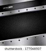 metal background   vector... | Shutterstock .eps vector #177068507