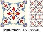 seamless azulejo tile.... | Shutterstock .eps vector #1770709931