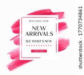 new arrivals sale sign over art ... | Shutterstock .eps vector #1770734861