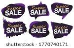 set super sale bubble banners... | Shutterstock .eps vector #1770740171