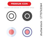 record icon pack isolated on...
