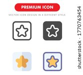 favorite icon pack isolated on...