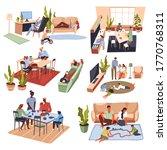 parents and children spending...   Shutterstock .eps vector #1770768311