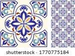 seamless azulejo tile.... | Shutterstock .eps vector #1770775184