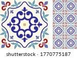 seamless azulejo tile.... | Shutterstock .eps vector #1770775187