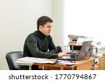 a casual businessman works in...   Shutterstock . vector #1770794867