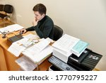 a casual businessman works in...   Shutterstock . vector #1770795227