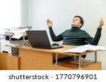 relaxed corporate man sitting...   Shutterstock . vector #1770796901
