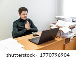 relaxed corporate man sitting...   Shutterstock . vector #1770796904