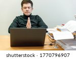 relaxed corporate man sitting...   Shutterstock . vector #1770796907
