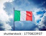 Italian Three Colors Flag Of...