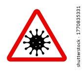 coronavirus icon  caution ... | Shutterstock .eps vector #1770835331