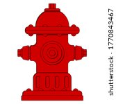 Fire Hydrant Icon. Red Fire...