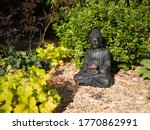 Buddha Statue At Sunrise In...