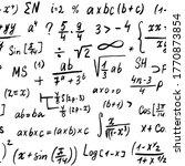 math formulas seamless pattern  ... | Shutterstock .eps vector #1770873854