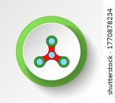 cartoon spinner toy colored...