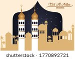 eid al adha celebration card... | Shutterstock .eps vector #1770892721