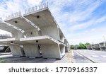 Small photo of Stock precast segmental box girder bridge, Bridge construction, Concrete industrial factory, Express way project