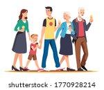 family generations walk... | Shutterstock .eps vector #1770928214