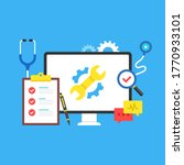 computer repair. maintenance ... | Shutterstock .eps vector #1770933101