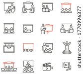 vector set of linear icons...   Shutterstock .eps vector #1770996377