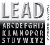 vector metal emboss alphabet  | Shutterstock .eps vector #177099911