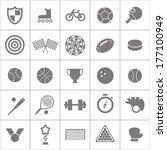 sport stock silhouettes... | Shutterstock .eps vector #177100949