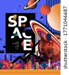 space astronomy banner template.... | Shutterstock .eps vector #1771046687