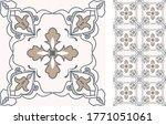 seamless azulejo tile.... | Shutterstock .eps vector #1771051061