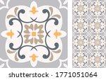 seamless azulejo tile.... | Shutterstock .eps vector #1771051064