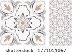 seamless azulejo tile.... | Shutterstock .eps vector #1771051067