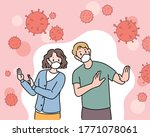 the man and the woman are... | Shutterstock .eps vector #1771078061