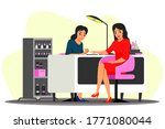 beauty salon scene....   Shutterstock .eps vector #1771080044