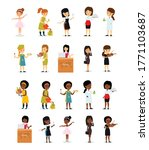 vector set of female... | Shutterstock .eps vector #1771103687