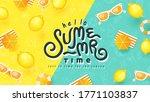 summer banner design with beach ... | Shutterstock .eps vector #1771103837