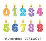 vector illustration of birthday ... | Shutterstock .eps vector #177110714